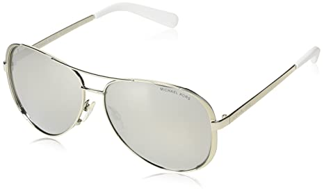 b22c2f3913 Image Unavailable. Image not available for. Colour  Michael Kors Women s Mirrored  Chelsea MK5004-1001Z3-59 Silver Oval Sunglasses