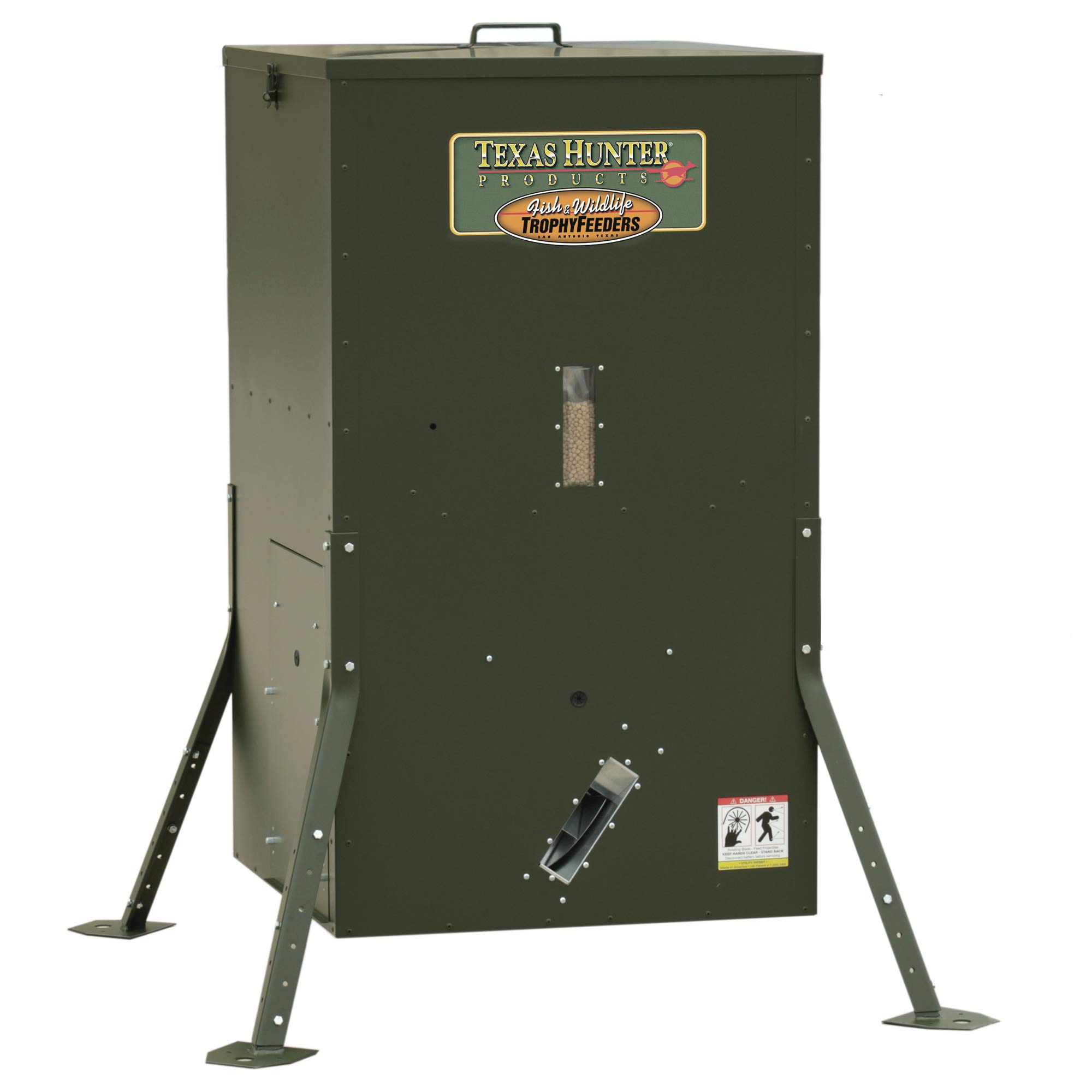 Texas Hunter Directional Fish Feeder w/Adjustable Legs - 250 lb. Fish Feed Capacity - Model DF425AL