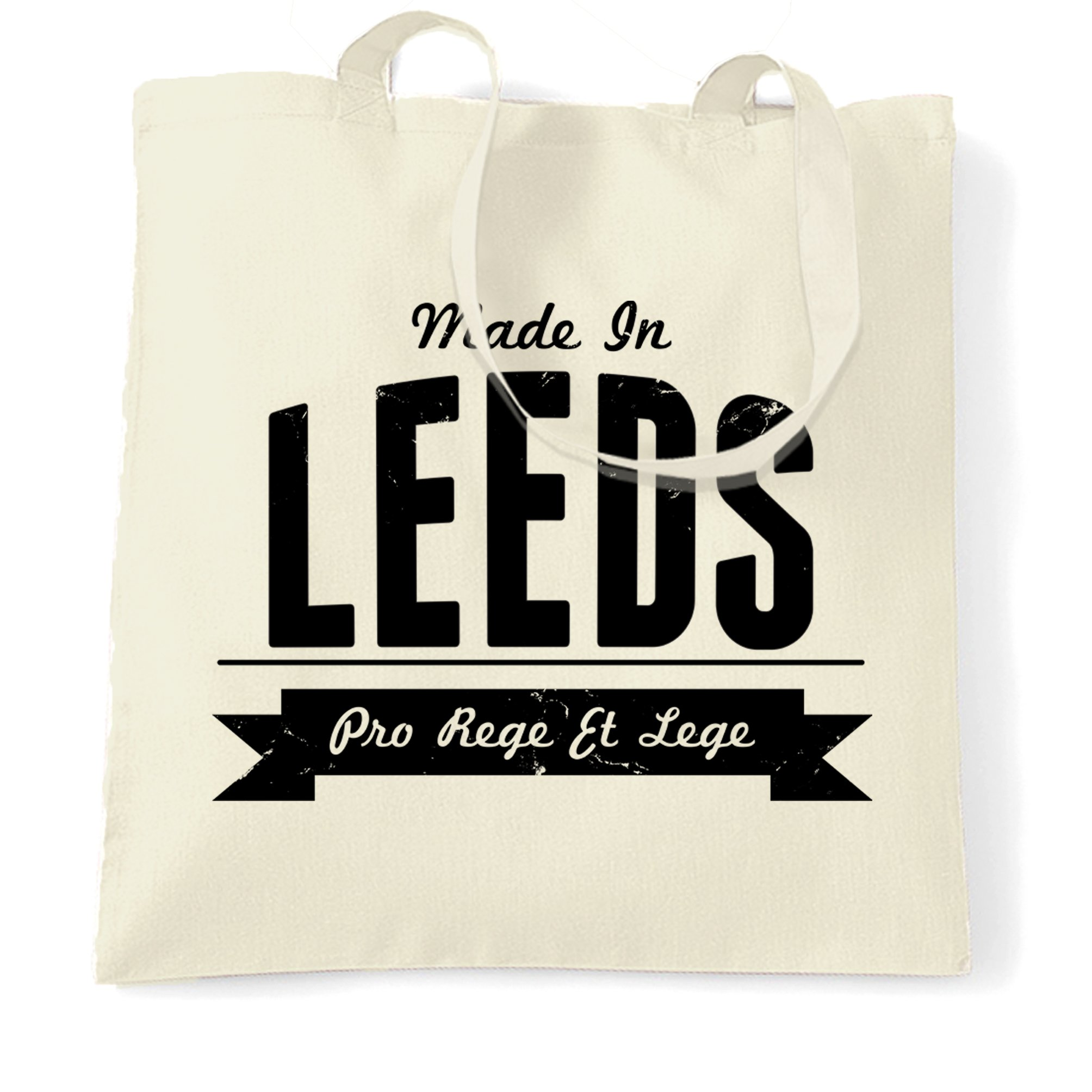 Hometown Pride Tote Bag Made in Leeds Banner Natural One Size