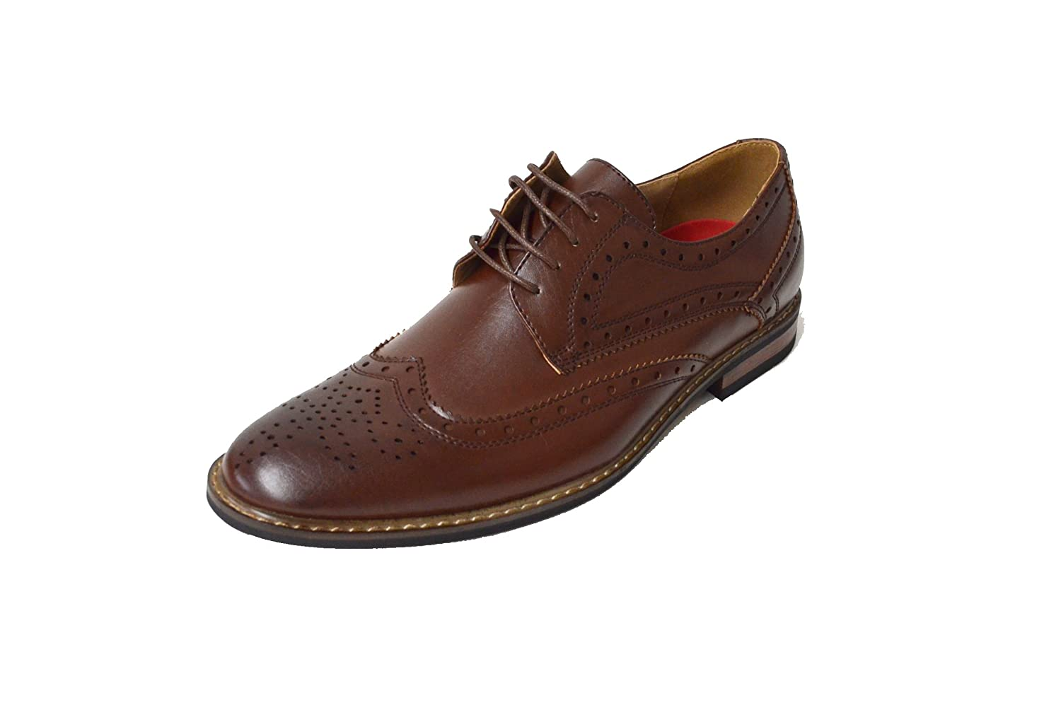 Durable Modeling Menu0026#39;s Faux Leather Classic Modern Oxford Wingtip Lace Up Dress Shoes - Www ...