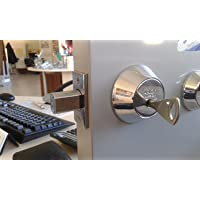 Abloy Protec deadbolt ME153 PROTEC/Single Cylinder w/Thumbturn/with 3 Keys and ID...