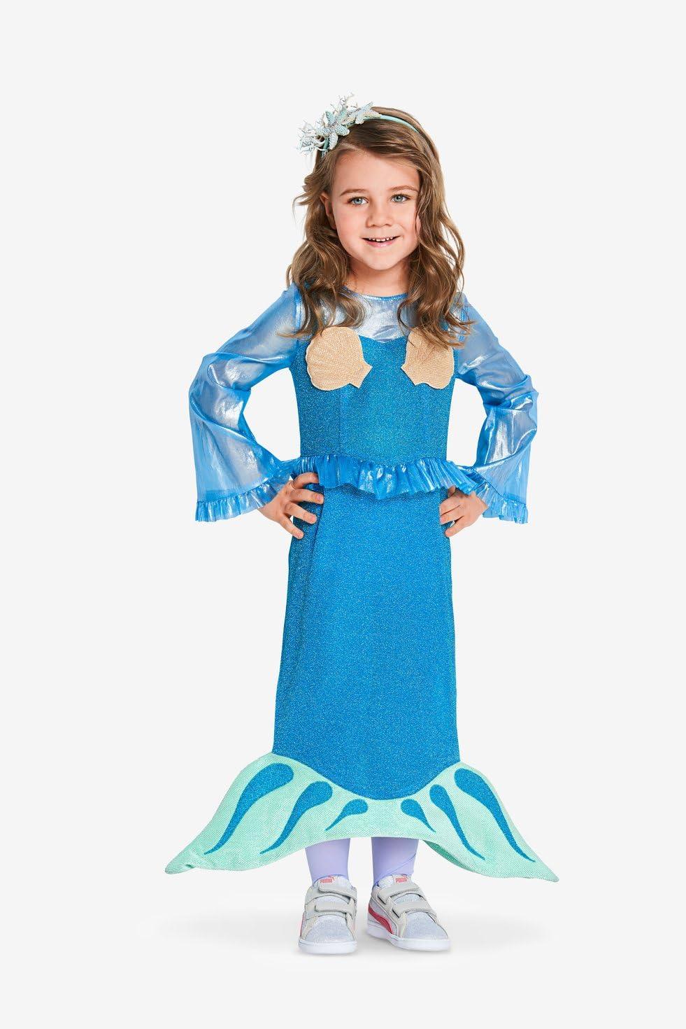 Burda Patron 2352 Prinzessin und Meerjungfrau Kost/üm f/ür Kinder von 104-134 cm
