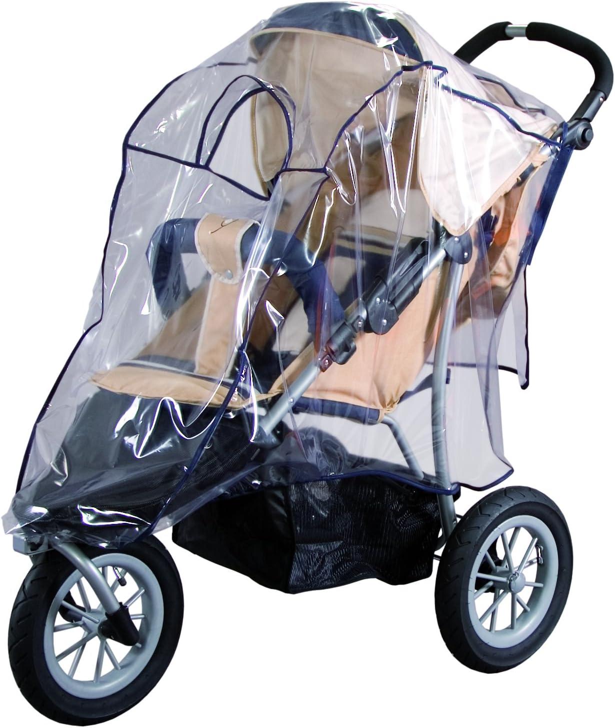 Sunny bebé 10089Lluvia cubierta de protector de pantalla para Jogger (Triciclo de todoterreno), color negro