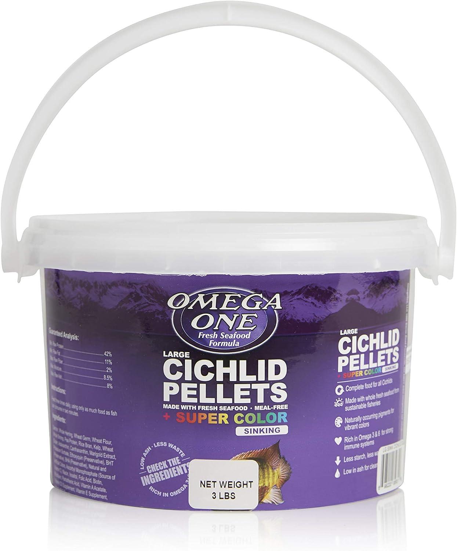 Omega One Super Color Sinking Cichlid Pellets, 4mm Large Pellets