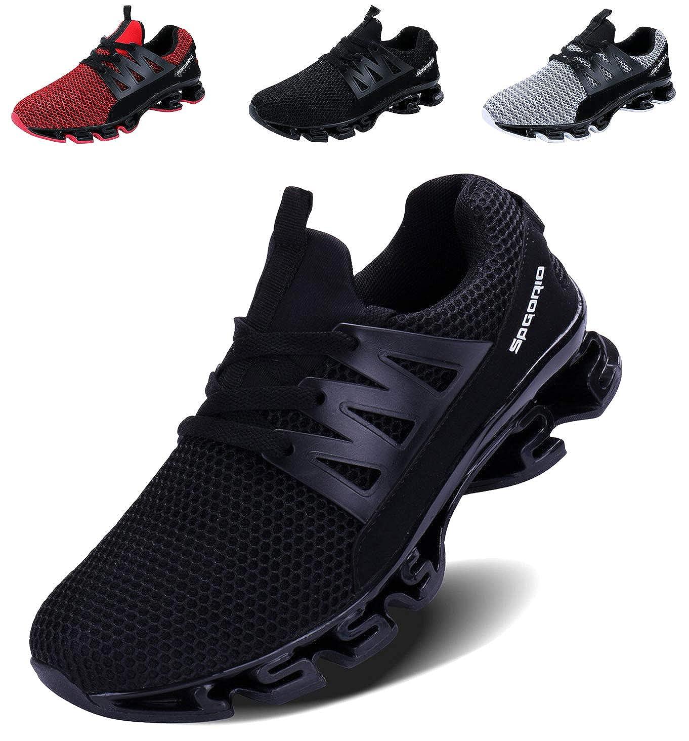 LSGEGO Zapatillas de Running para Hombre Zapatillas de Deporte Ligeras y Transpirables Zapatillas de Deporte atléticas Circulares Sneaker