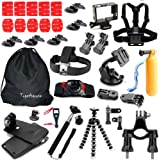 Togetherone Kit de GoPro Accesorios para Cámara Hero 4/3+/3/2/1/ Black Silver/ SJ4000/ SJ5000/ SJ6000 Empuñadura flotante + Bastón para selfies