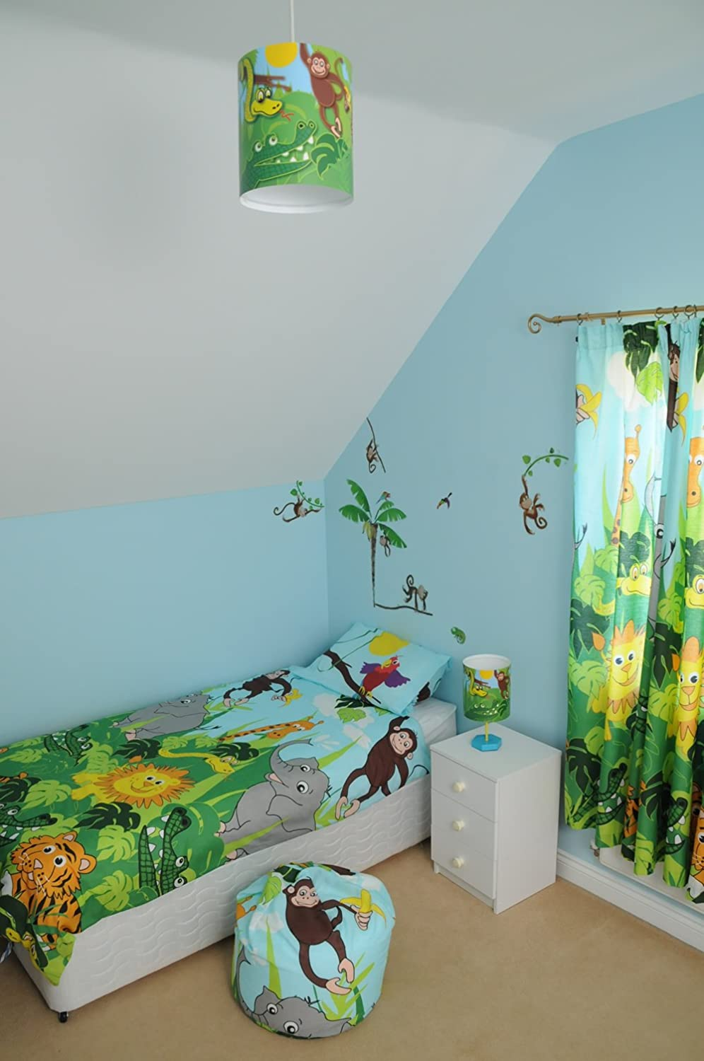 Jungle Toddler Bedding With Lions, Tigers And Monkeys: Amazon.co.uk:  Kitchen U0026 Home