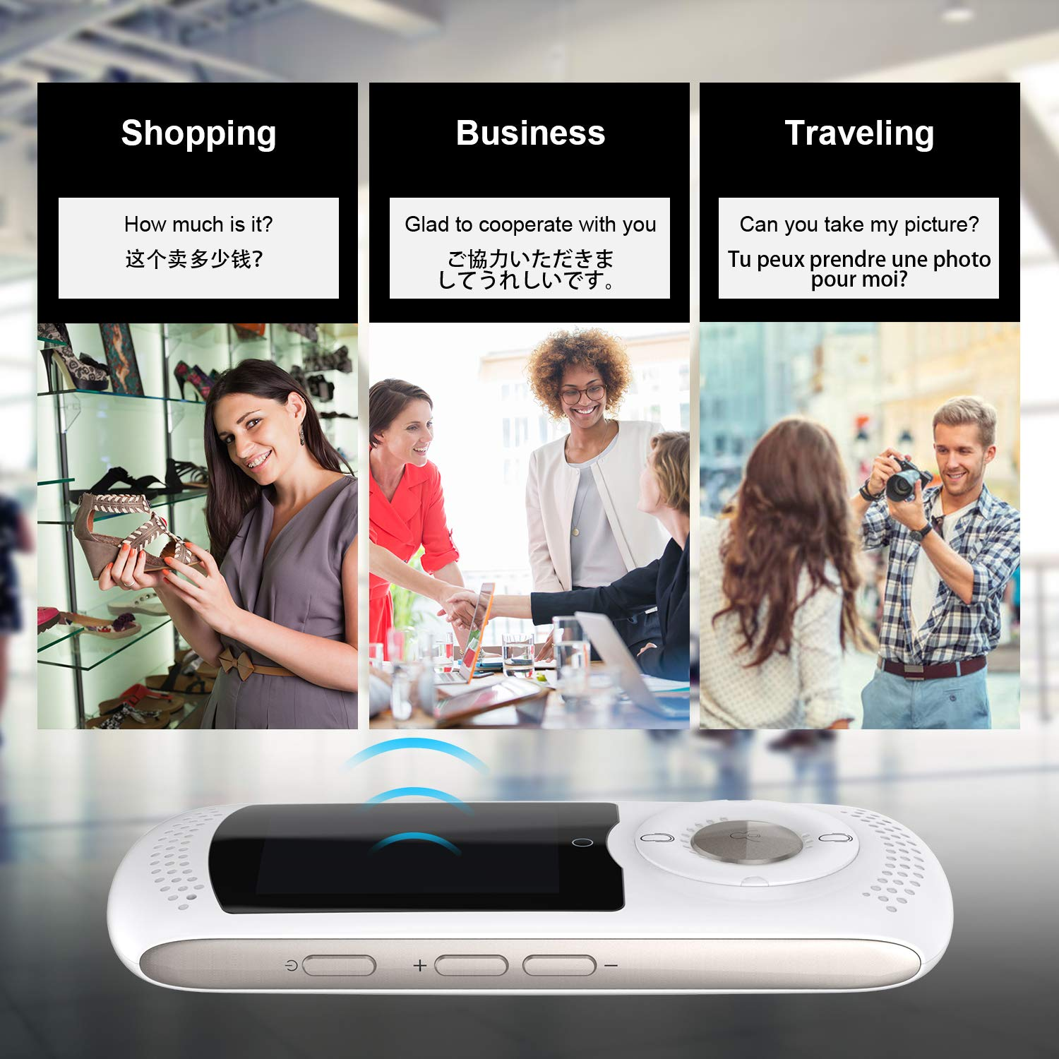 Weikin Portable Language Translator Device 2.0inch Touch Screen Smart Real Time Instant Voice Translation Support 45 Languages WiFi and 4G Dual Mode for Learning Travel Shopping Business(White) … by weikin (Image #5)