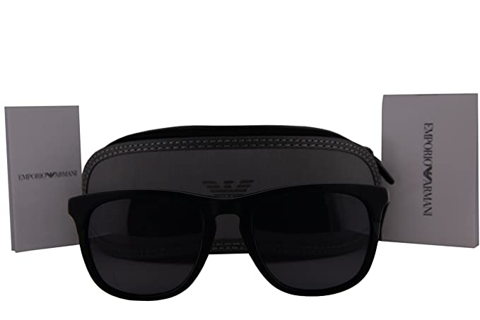 cbeb12b3a5 Image Unavailable. Image not available for. Colour  Emporio Armani EA4105  Sunglasses Matte Black ...