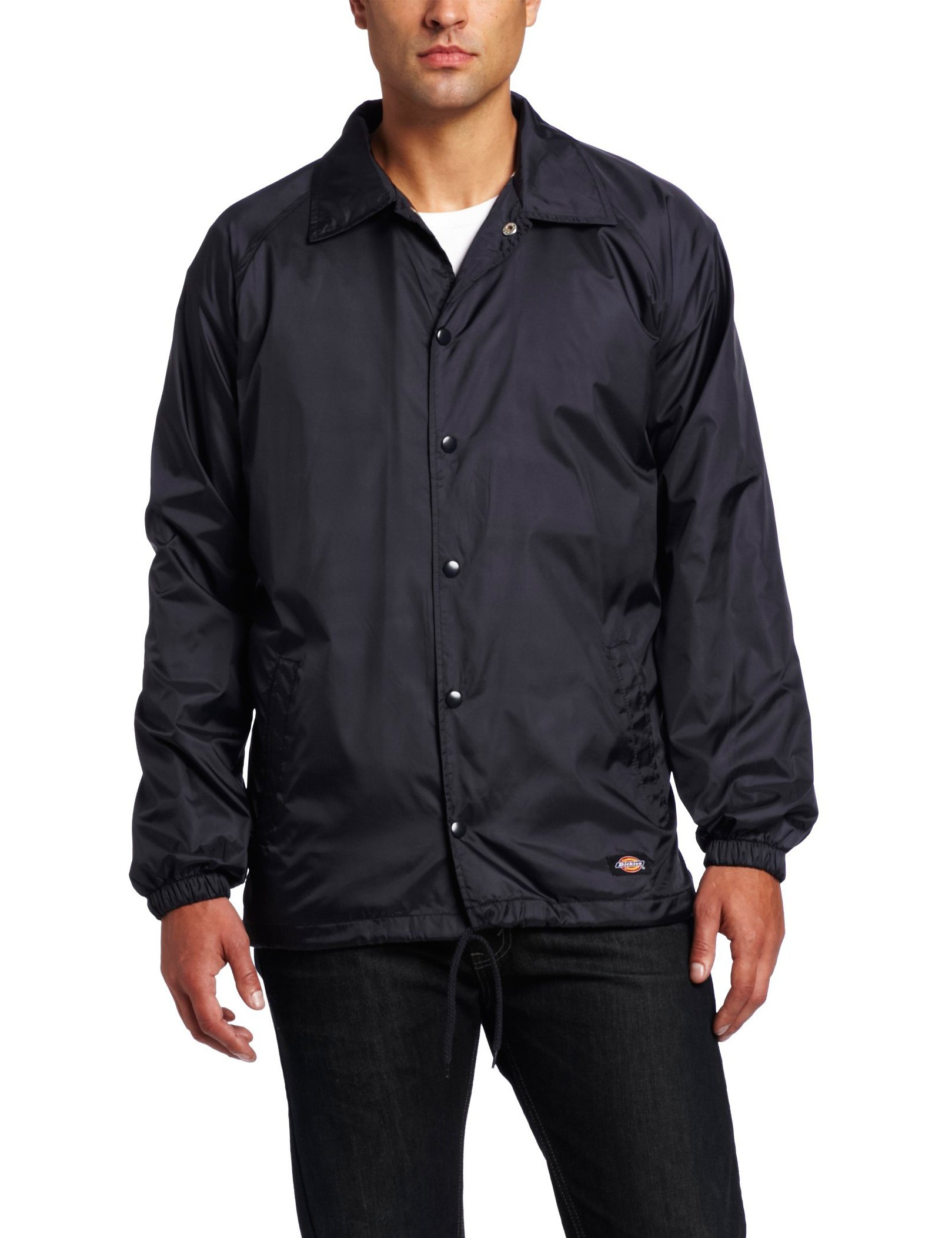 Dickies Men's Snap Front Nylon Jacket, Dark Navy, Small by Dickies