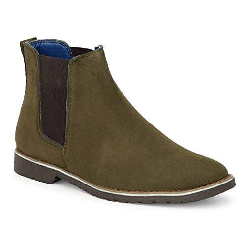 Buy Swin Olive Chelsea Boots for Men at