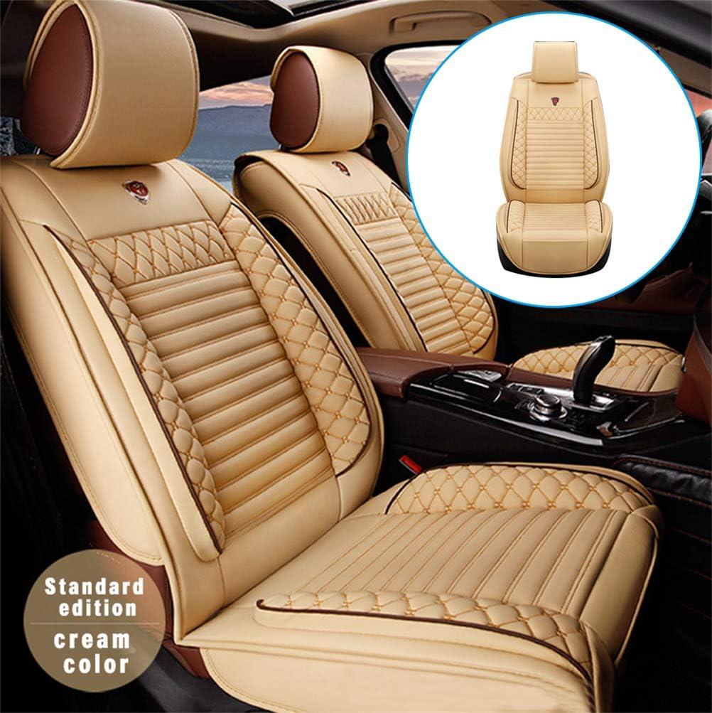 Orange DBL 2 pi/èces de Housses de Si/ège de Voiture en Cuir PU pour BMW 1 Series E81 E88 F20 F21 120i 130i 116i 118i Compatible avec Les airbags lat/érau