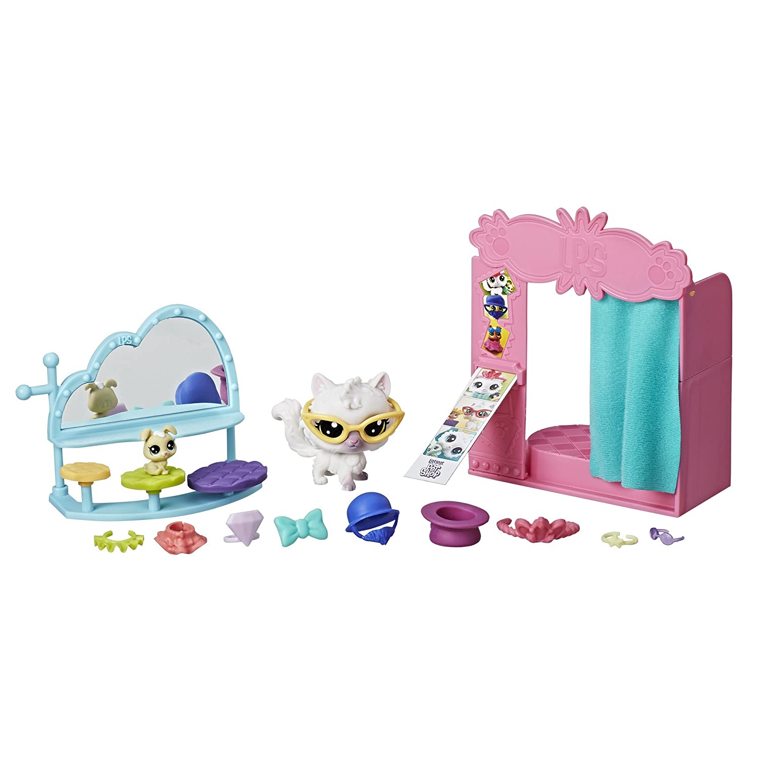 Littlest Pet Shop Flashy Phone Booth Fashion Dolls & Accessories Hasbro E1015