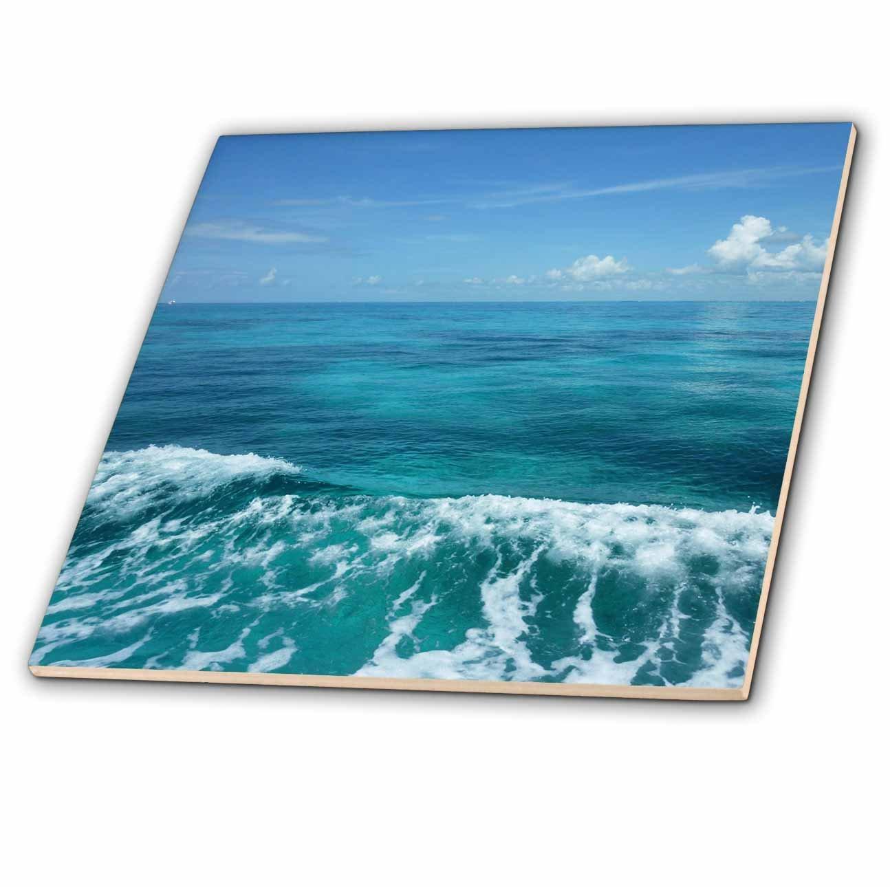 4-Inch 3dRose ct/_41637/_1 Florida Key Waves Iii-Ceramic Tile
