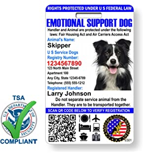 picture about Free Printable Service Dog Id Card Template called : XpressID Psychological Help Animal Identity Card with