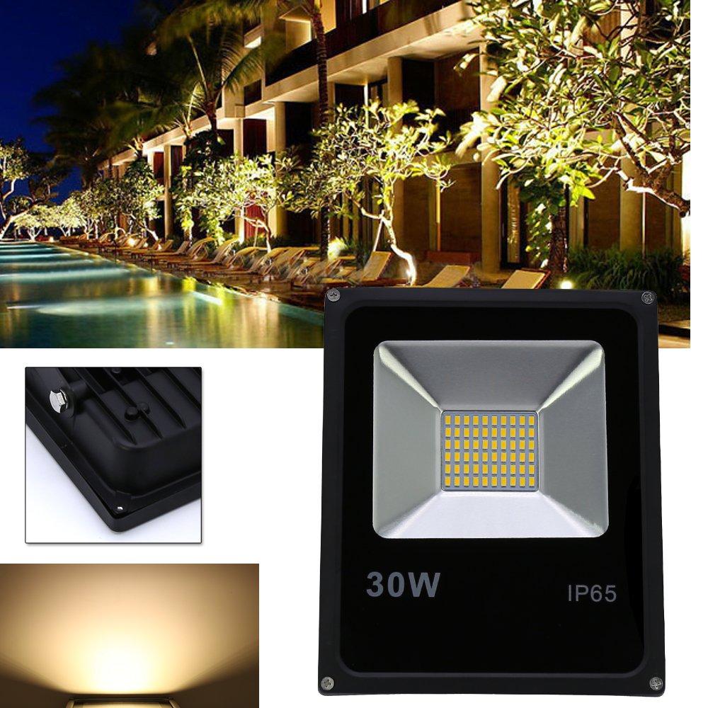 VINGO® 2X 30W LED Warmweiß Baustrahler Außen Flutlicht Strahler ...