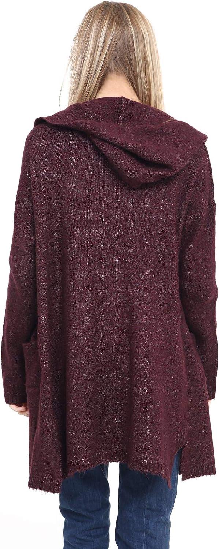 Multiblu Ladies Cuddly Cozy Soft Warm Hoody Stylish Longer Cut Cardigan Winter Jumper
