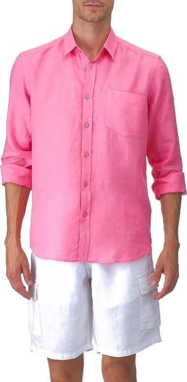 VILEBREQUIN - Camisa clásica en Lino - Hombre - XXL - Loto ...