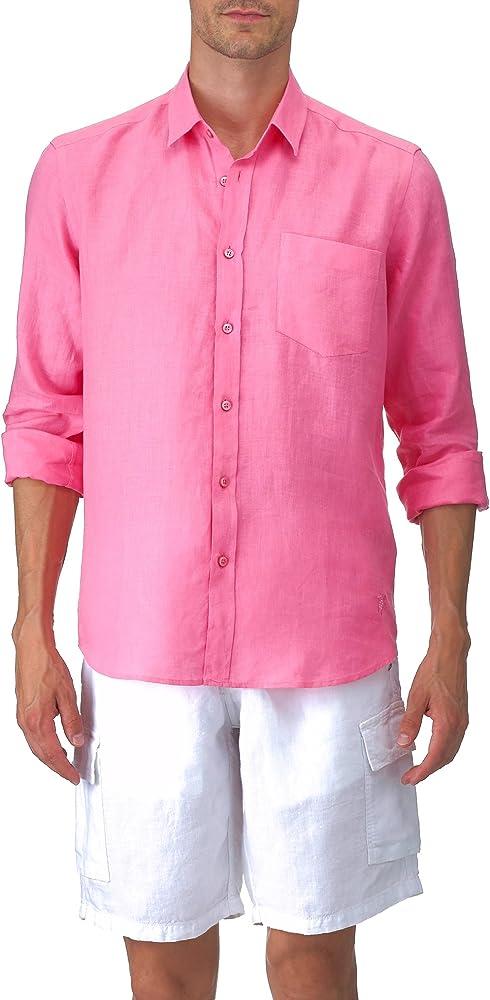 VILEBREQUIN - Camisa clásica en Lino - Hombre - XXL - Loto: Amazon.es: Ropa y accesorios