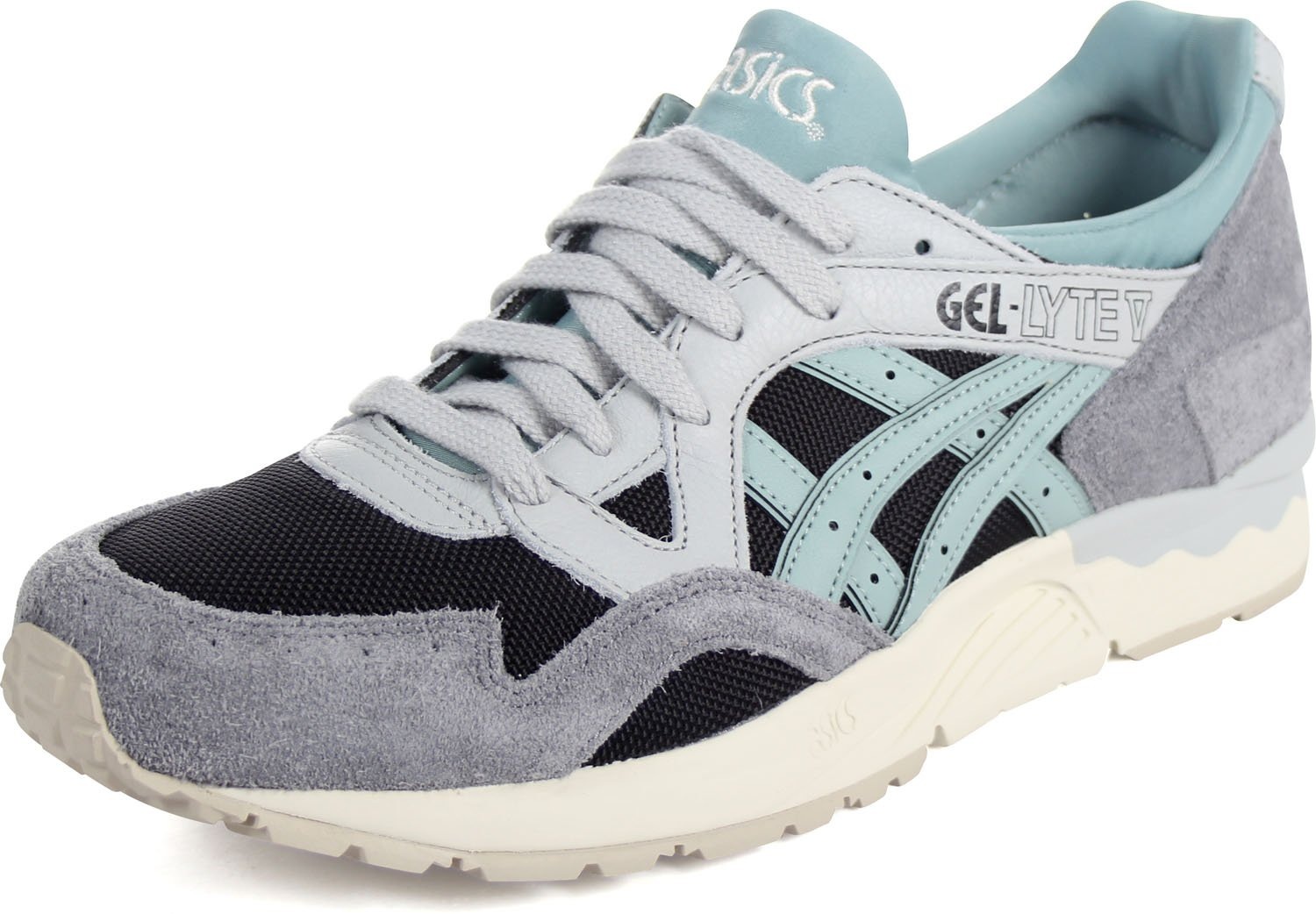 los angeles 4150d 60a38 Onitsuka Tiger by Asics Men's Gel-Lyte V Black/Blue Surf 9 D US
