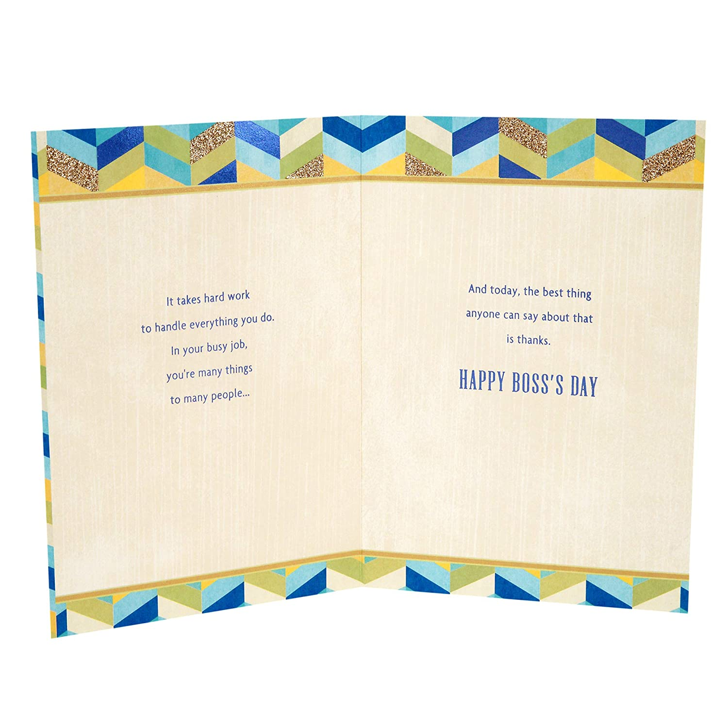 Amazon Hallmark Bosss Day Greeting Card Youre The Best