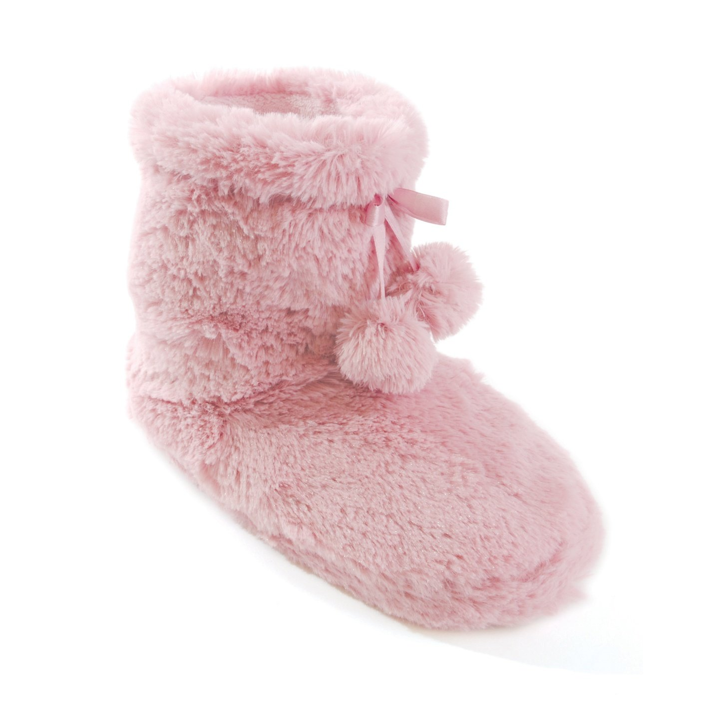 Womens/Ladies Fluffy Boot Slippers