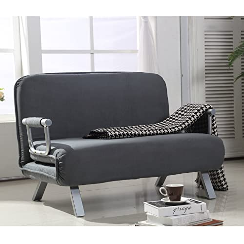 office sleeper lounge homcom twin size folding position steel convertible sleeper bed chair grey chair amazoncom