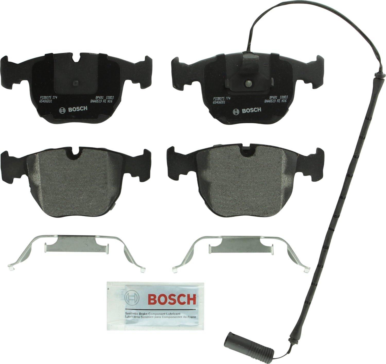 Bosch BP681 QuietCast Premium Semi-Metallic Disc Brake Pad Set For: BMW 530i, 540i, 740i, 740iL, M5, X5, Front
