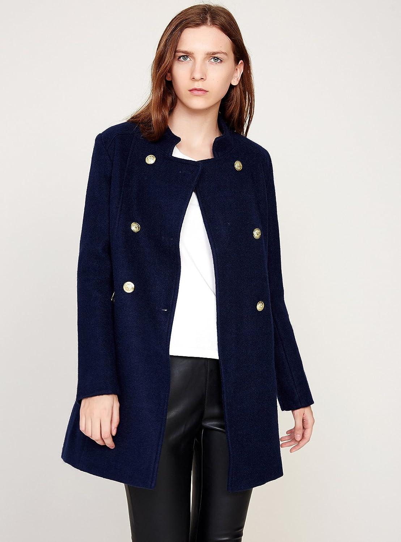 780fcf8d0 Amazon.com: Escalier Women's Double-Breasted Pea Coat Winter Woolen ...