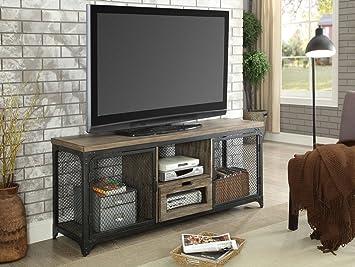 Muebles de América - Soporte para televisor de Madera y Metal, Color Gris y Negro: Amazon.es: Juguetes y juegos