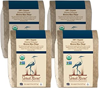 product image for Great River Organic Milling Organic Brown Rice Flour, 5 Pound, 4 Count