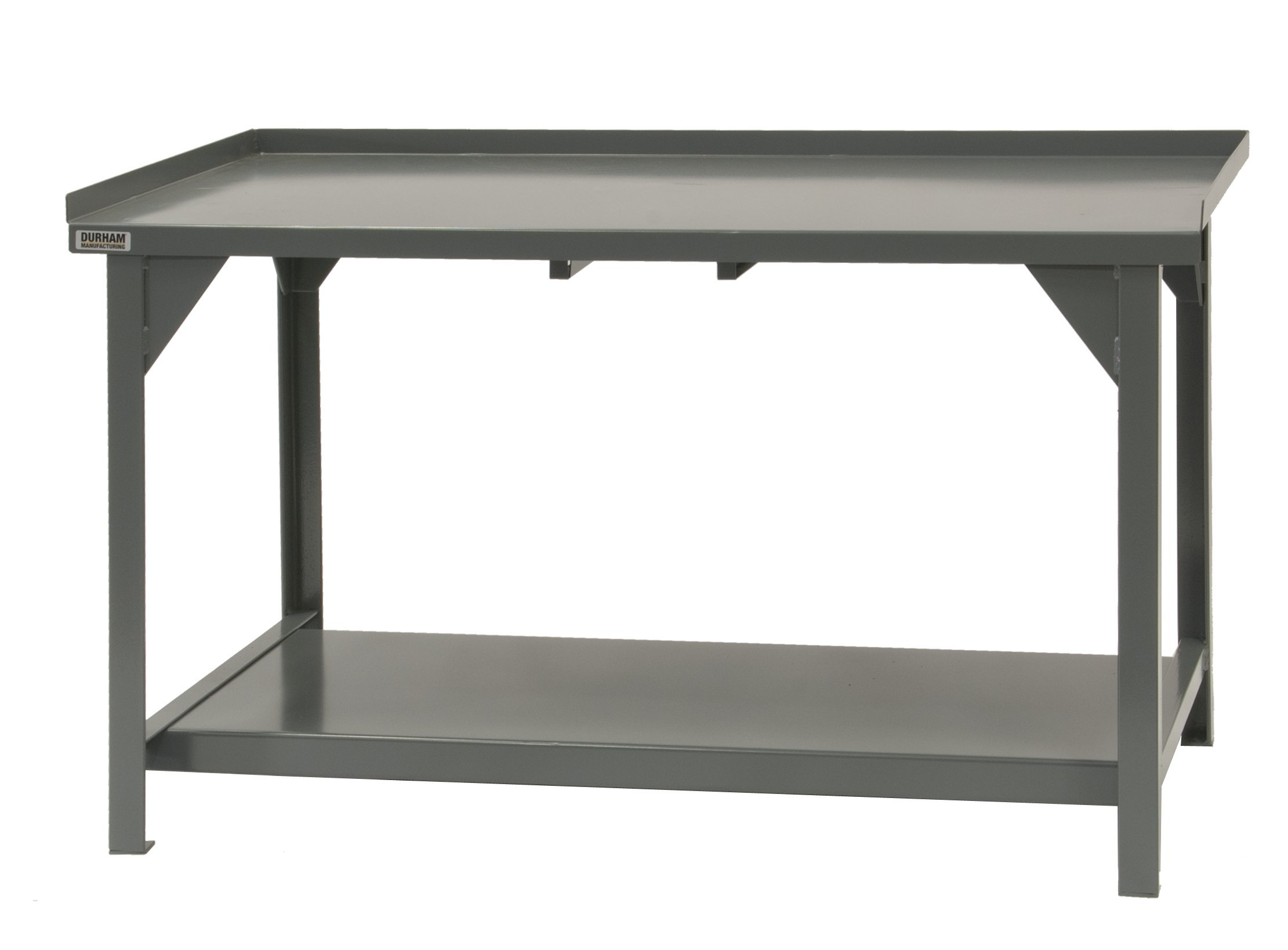 Durham Heavy Duty Steel/Iron Workbench with Back and End Stops, DWB-3072-BE-95, 4000 lbs Capacity, 30'' Length x 72'' Width x 34'' Height