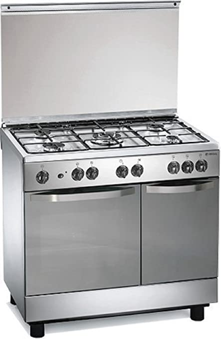 Cucina a gas 90x60x85 cm inox 5 fuochi con forno elettrico - Regal ...