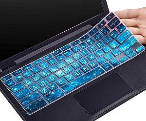 "CaseBuy Keyboard Cover for Dell 11.6 Chromebook/Dell Chromebook 11 3100 3120 3180 3181 3189 5190 P22T 11.6"" / Dell Chromebook 13 3380 13.3 inch, Dell Chromebook Cover(Upper CASE, Blue Stars)"