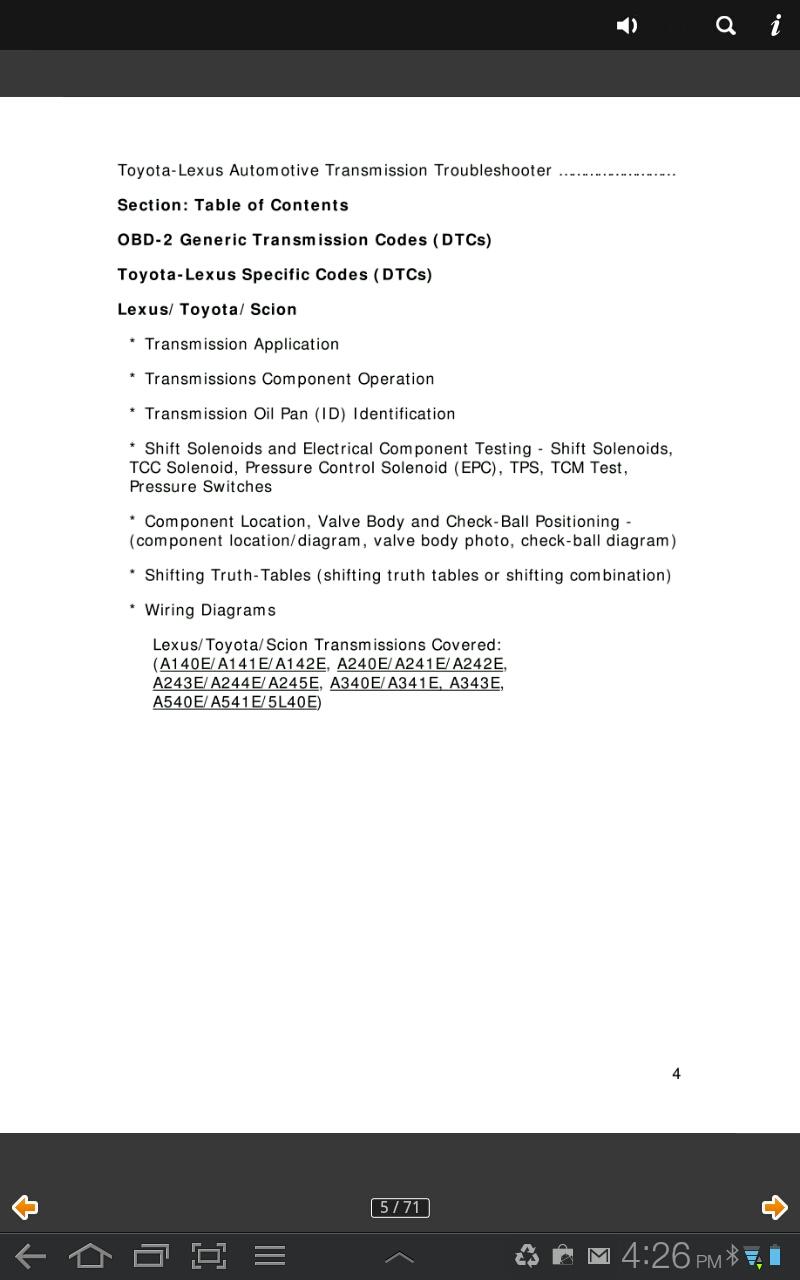 Amazon.com: Toyota Lexus Transmission Troubleshooter ... on