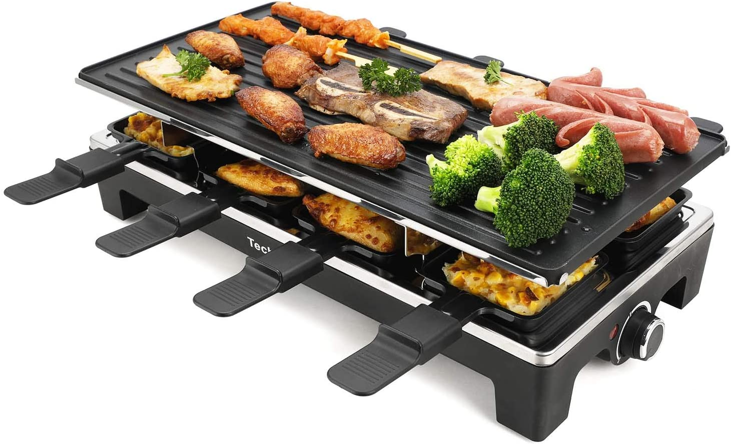 Techwood Raclette Party Electric BBQ Indoor and Outdoor Grill