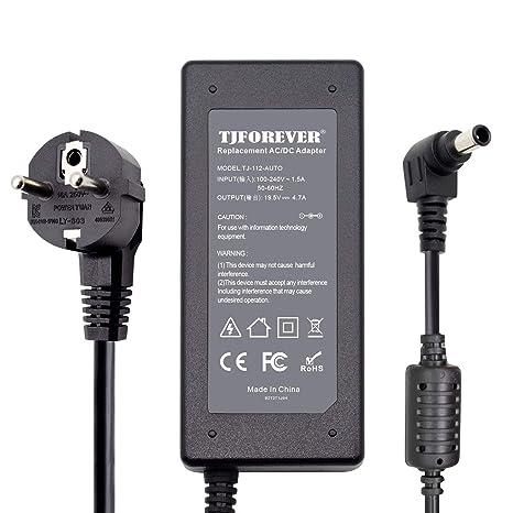 TJFOREVER 19.5V 4.7A 90W 65W Cargador Ordenador portátil para Sony Vaio Notebook Fuente de Alimentación Adaptador Conector: 6.5 * 4.4mm