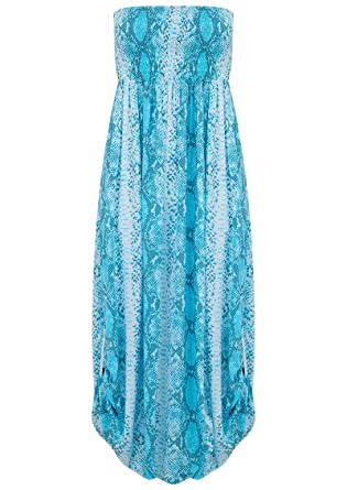 408c0ac426d BETH AND TRACIE - Emily Maxi Snake Print Dress - Ocean