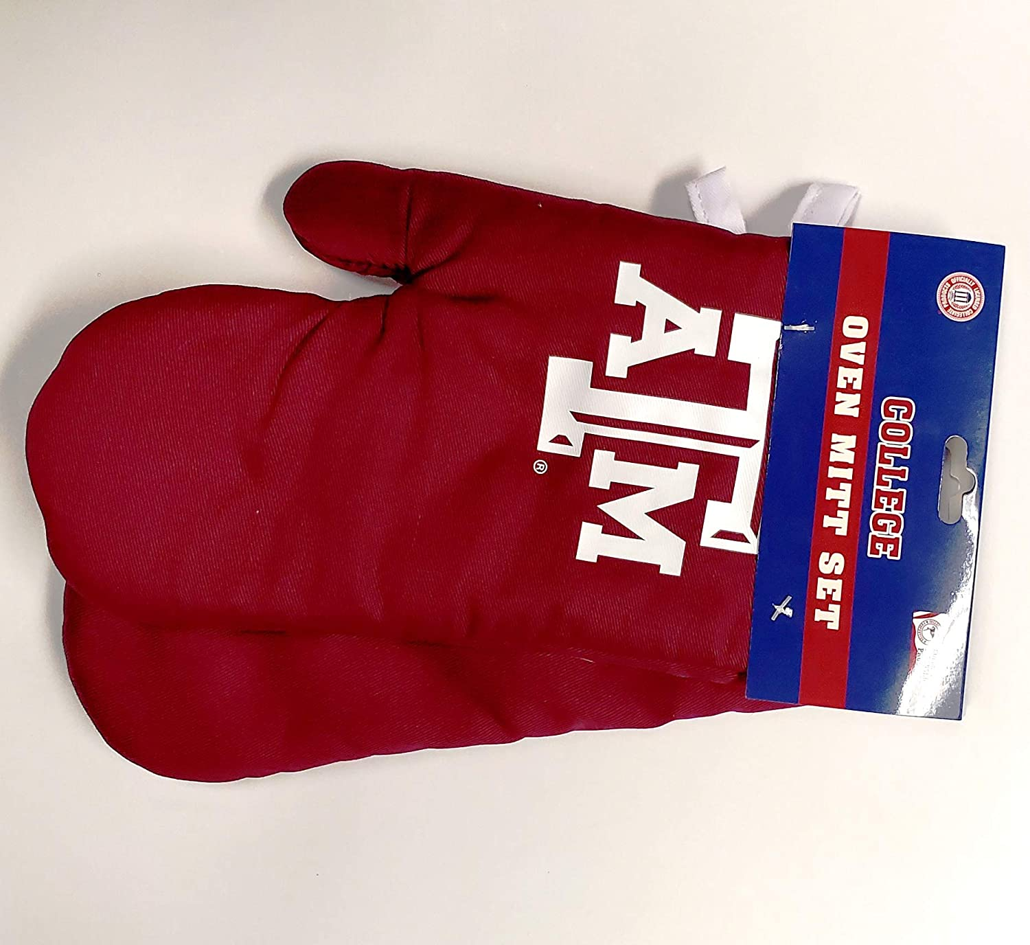 Texas A&M Aggies Oven Mitt Glove Holder Set Cooking Grilling Barbecue University