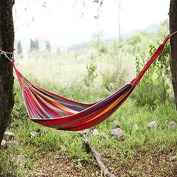 Hangematte Multicolore Hamac Outdoor Atmungsaktiv Canvas Arc En