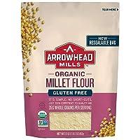 Arrowhead Mills Organic Millet Flour, Gluten Free, 23 Ounce Bag (Pack of 6)