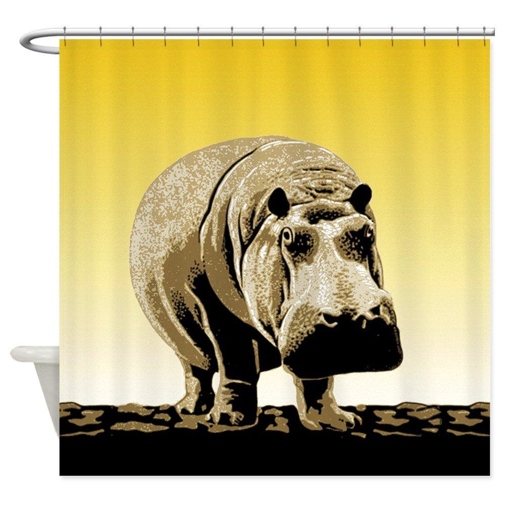 Amazon CafePress Happy Hippo Hippopotamus Shower Curtain Decorative Fabric 69x70 Home Kitchen