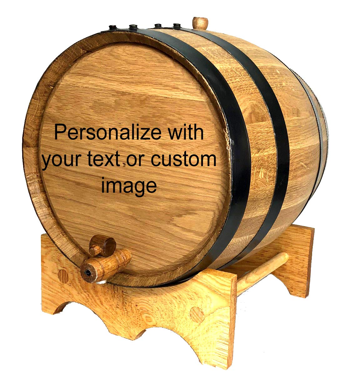 Custom Engraved 20 Liter Oak Barrels for Aging Whiskey, Rum, Tequila, Bourbon, Scotch and Wine (20 Liter) by Red Head Barrels