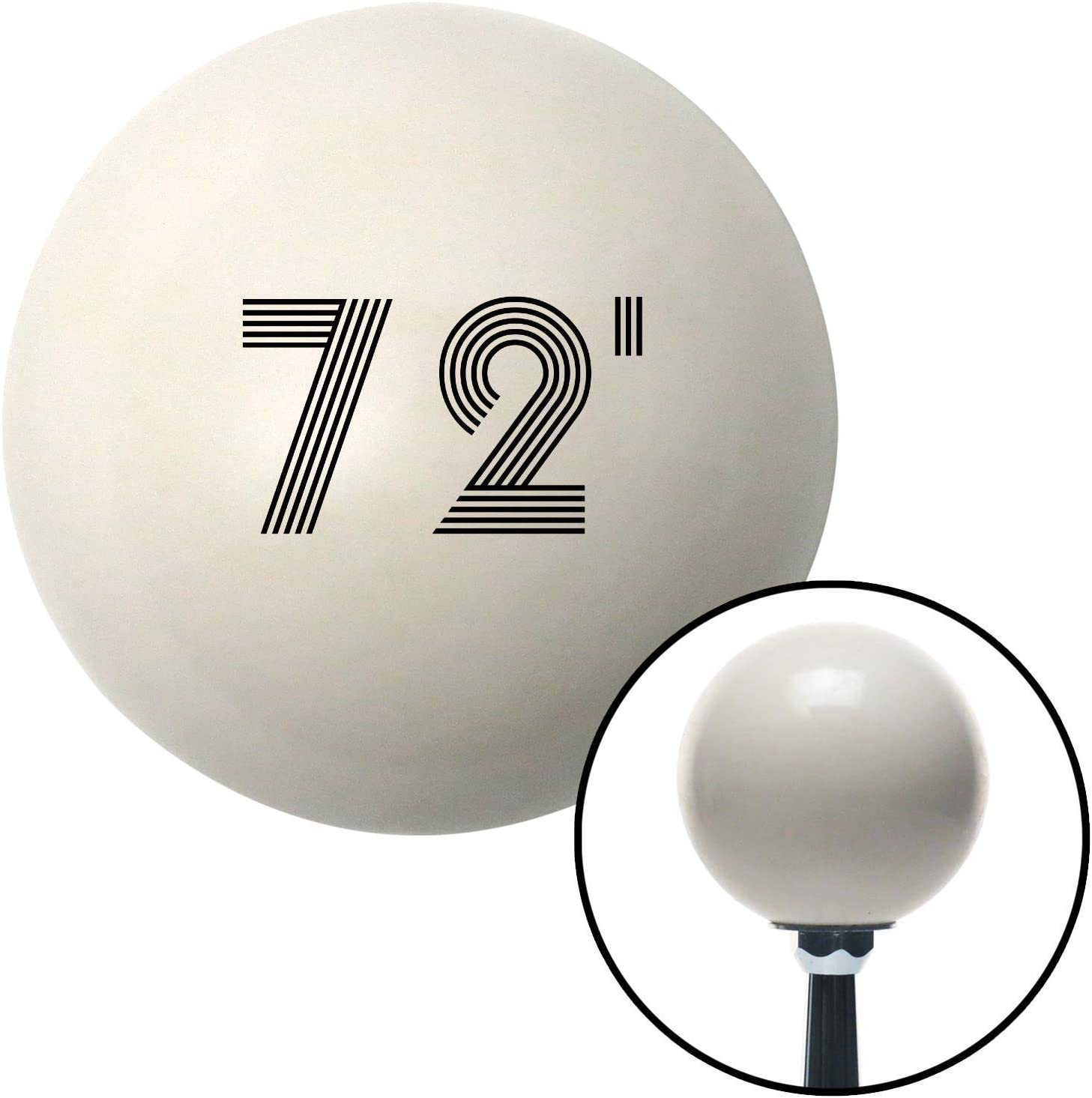 American Shifter 142648 Ivory Shift Knob with M16 x 1.5 Insert Black 72 Year Retro Series