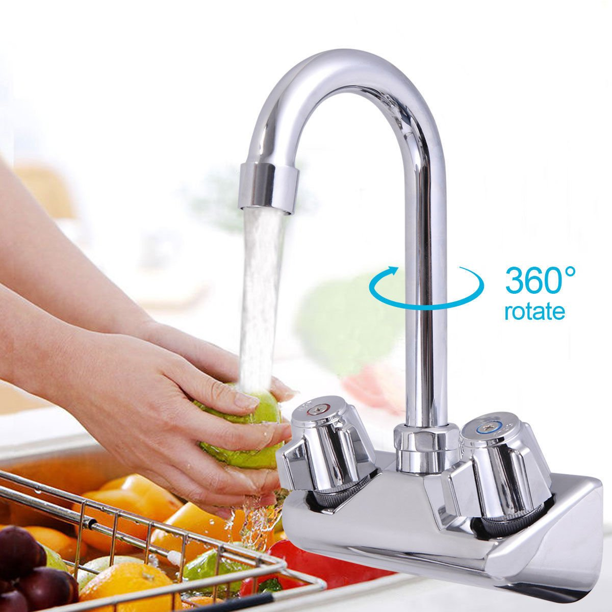 Commercial Stainless Steel Wall-Mount Hand Sink NSF
