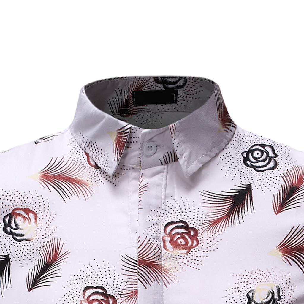 Mens Printed Casual Short Sleeve Aloha Hawaiian Shirt Summer Beach Holiday T Shitrs Mens Vest Tank Tops Blouse