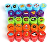 Kesoto 26 Pieces Assorted Self-inking Stamps Set Kids Pirates Sea Ocean Animal Nautical Stamps - Party Favor, Teacher Stamps