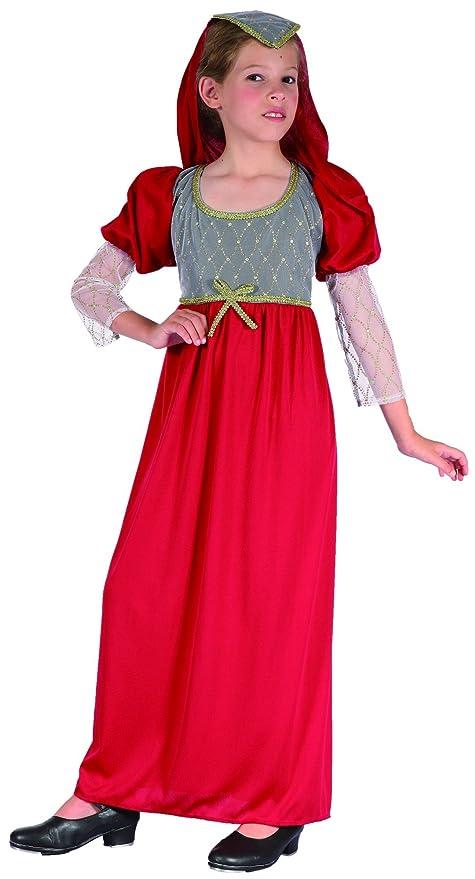 Disfraz medieval niña - 7 - 9 años: Amazon.es: Juguetes y juegos