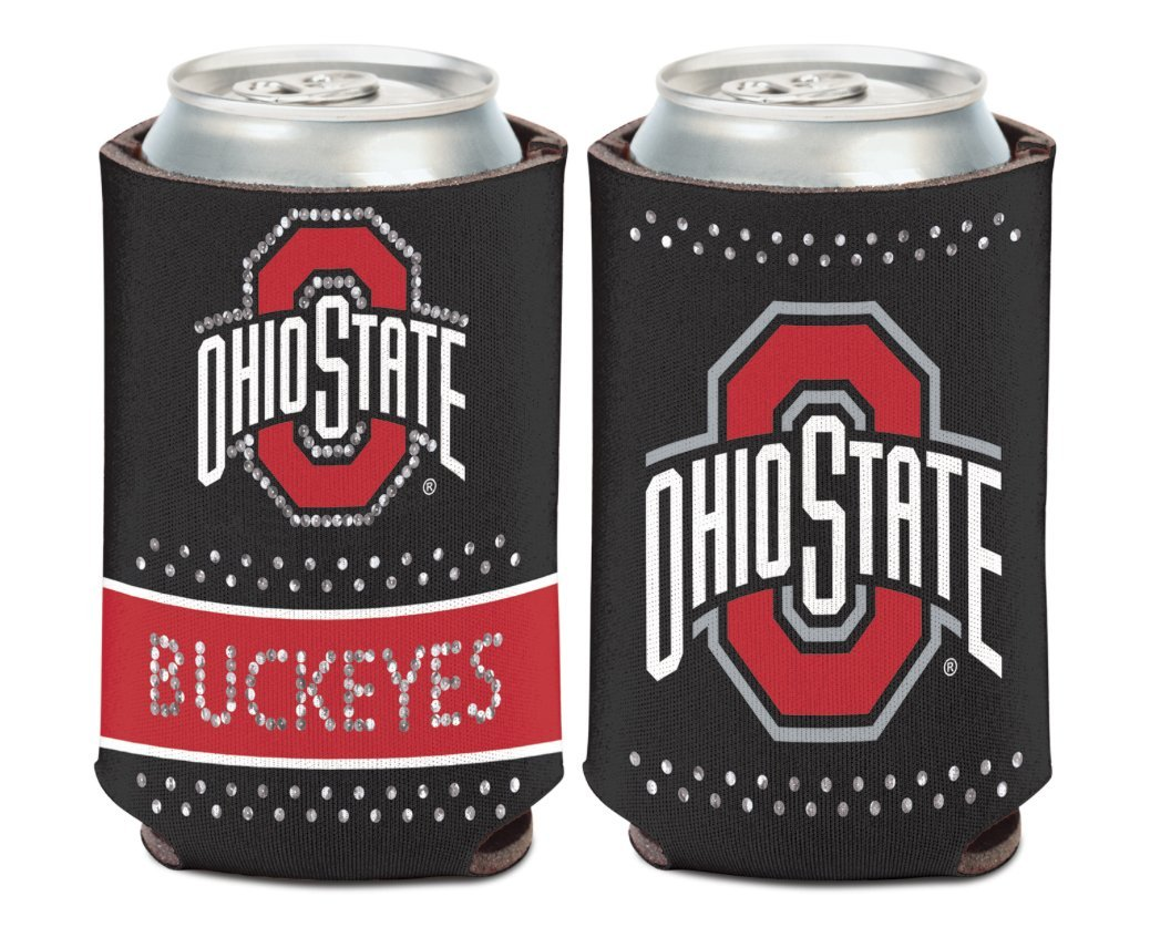 2-Sided Can Cooler NCAA Ohio State OSU Buckeyes Bling 1 Pack 12 oz