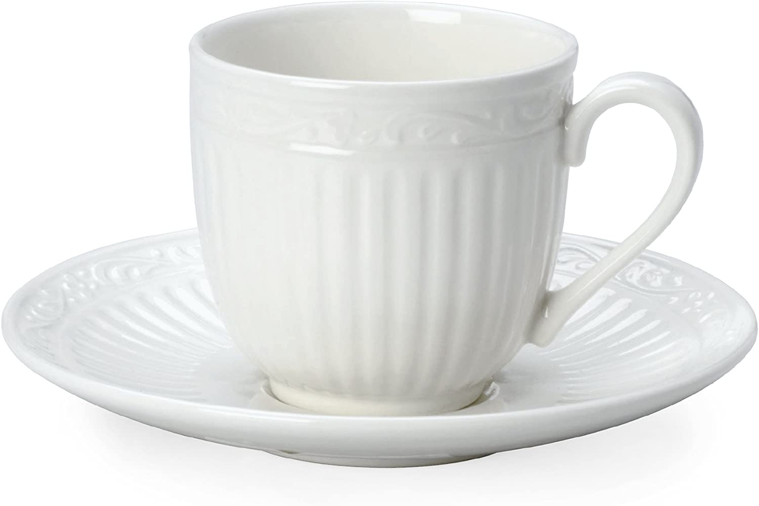 Mikasa Italian Countryside Espresso Cup and Saucer Set